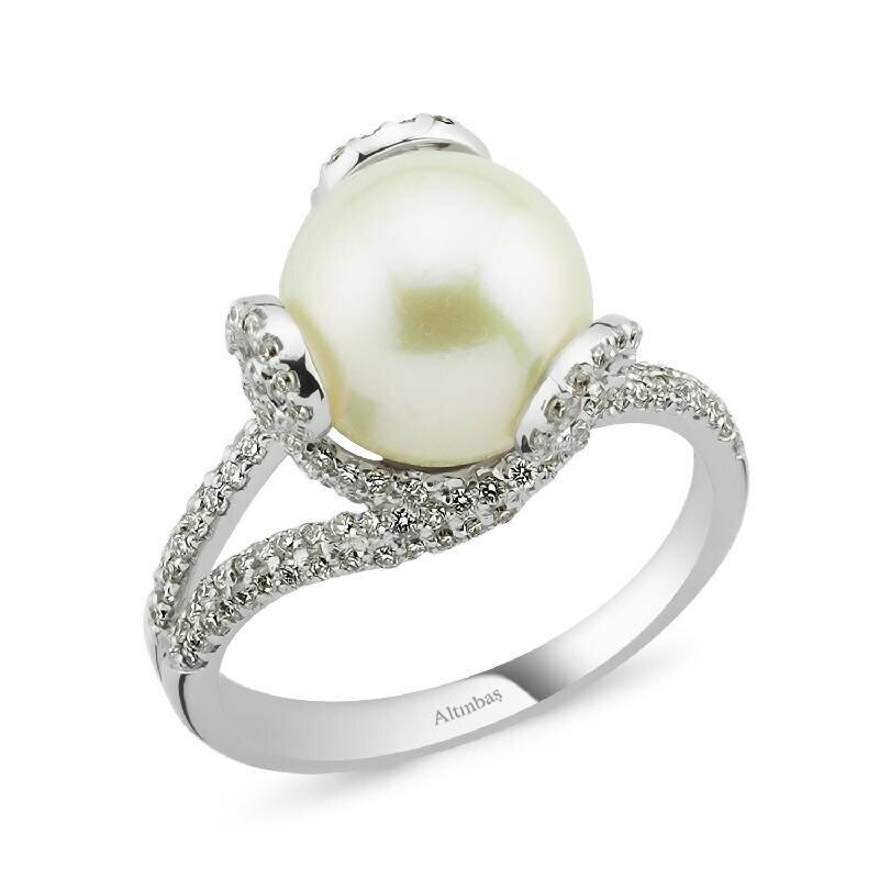 0.55 Carat Bague Diamant Perle