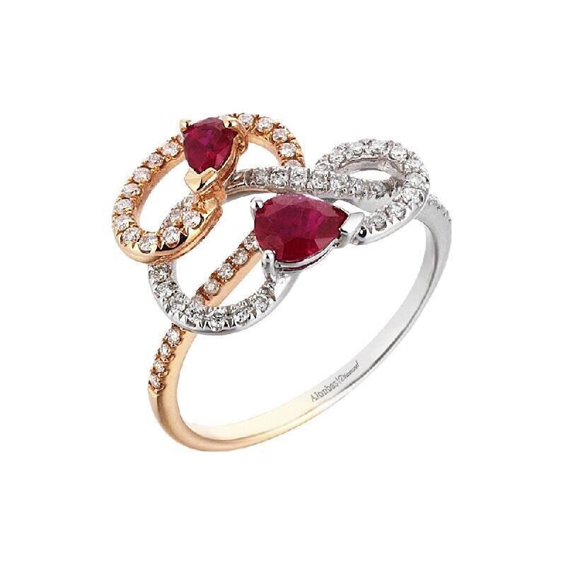 0.28 Carat Ruby Diamond Ring