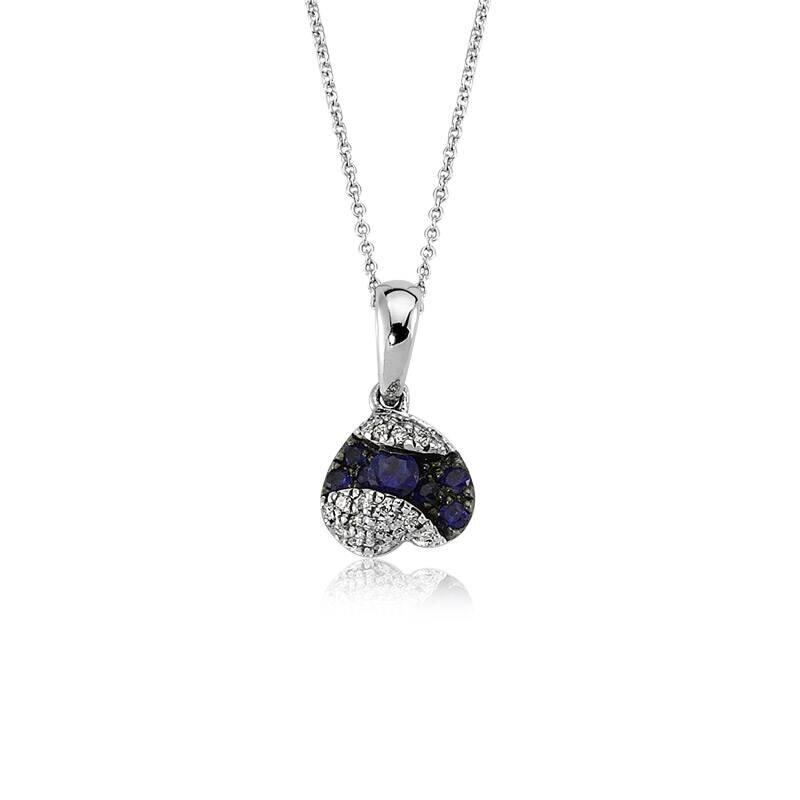 0.05 Carat Collier Diamant Saphir