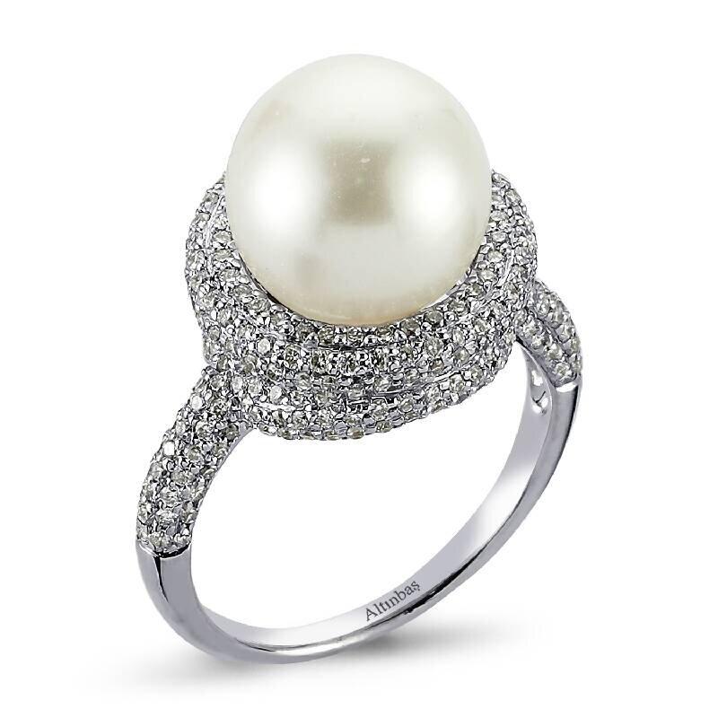 1.23 Carat Bague Diamant Perle