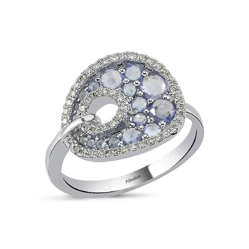 0.20 Carat Sapphire Diamond Ring