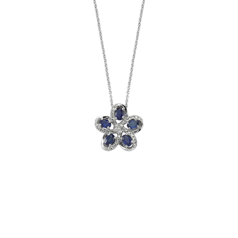 0.08 Carat Collier Diamant Saphir