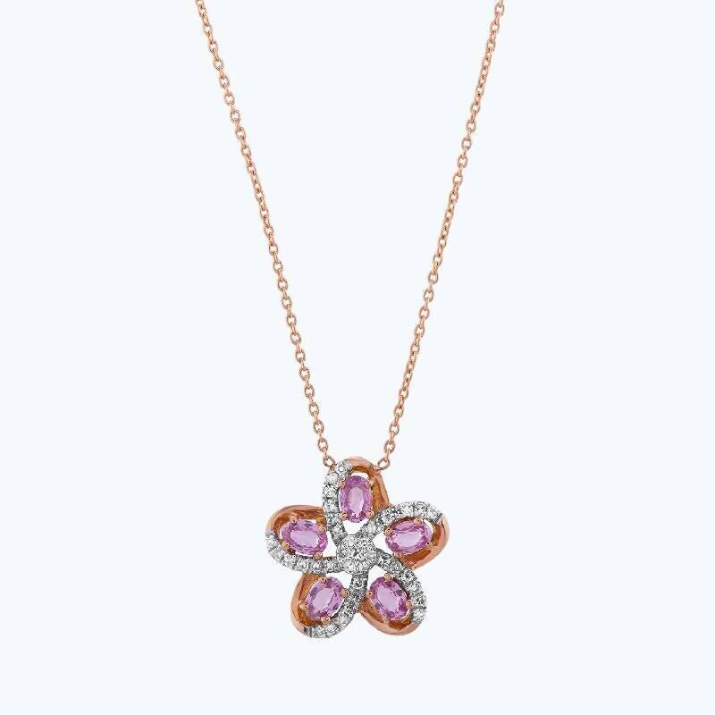 0.09 Carat Collier Diamant Saphir