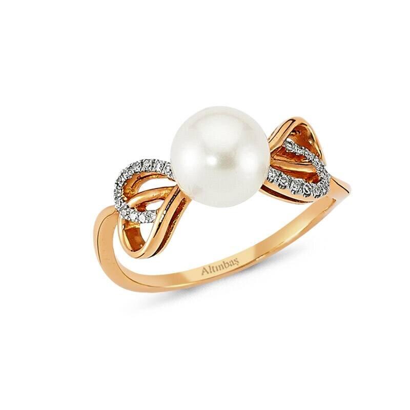 0.06 Carat Bague Diamant Perle