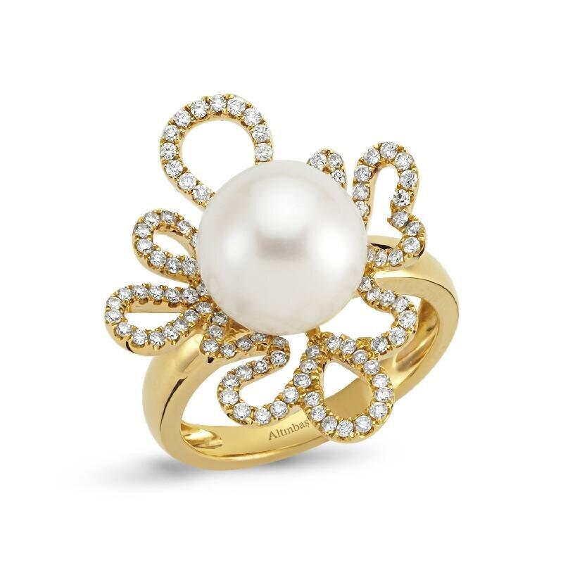 0.58 Carat Bague Diamant Perle