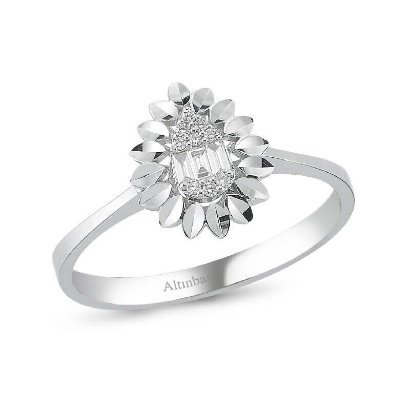 0.06 Carat Baguette Diamond Ring