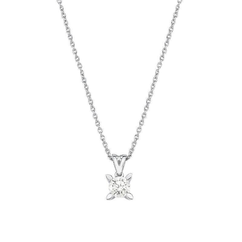 0.51 Carat Solitaire Diamond Necklace