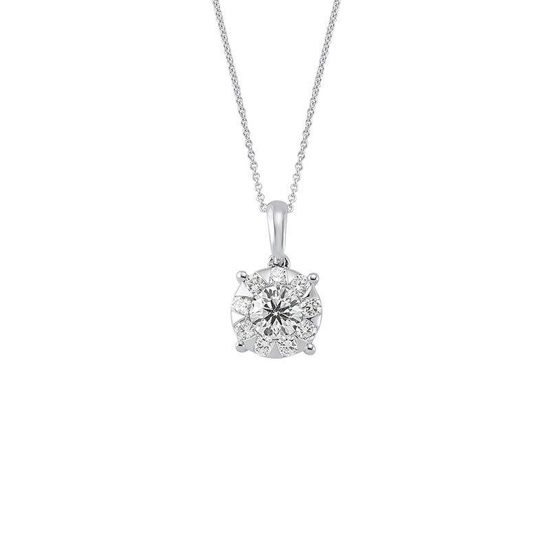 0.69 Carat Solitaire Diamond Necklace