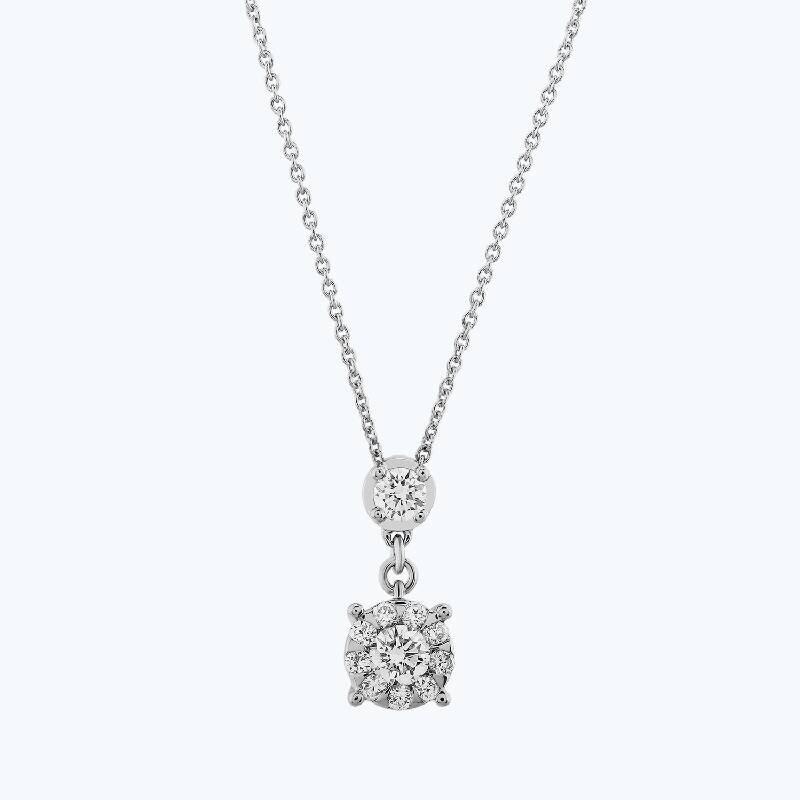 0.45 Carat Bouquet Solitaire Diamond Necklace