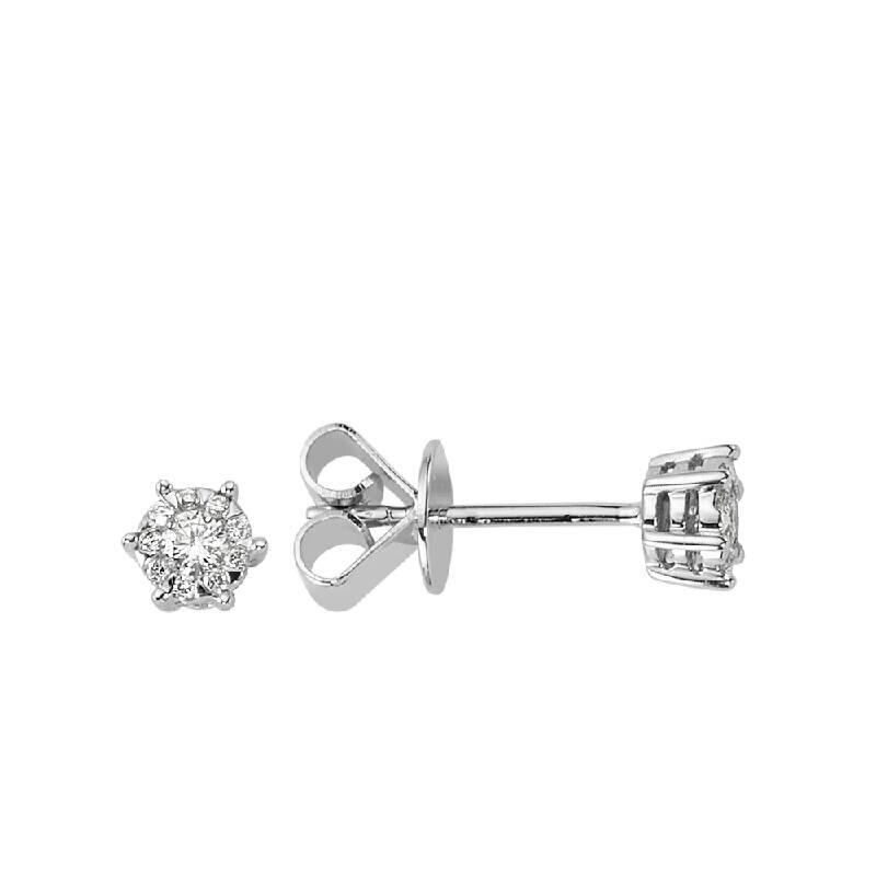 0.16 Carat Solitaire Diamond Earrings