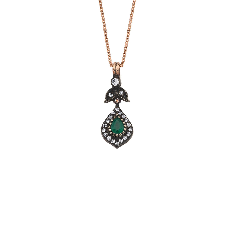 0.22 Carat Collier Diamant Émeraude