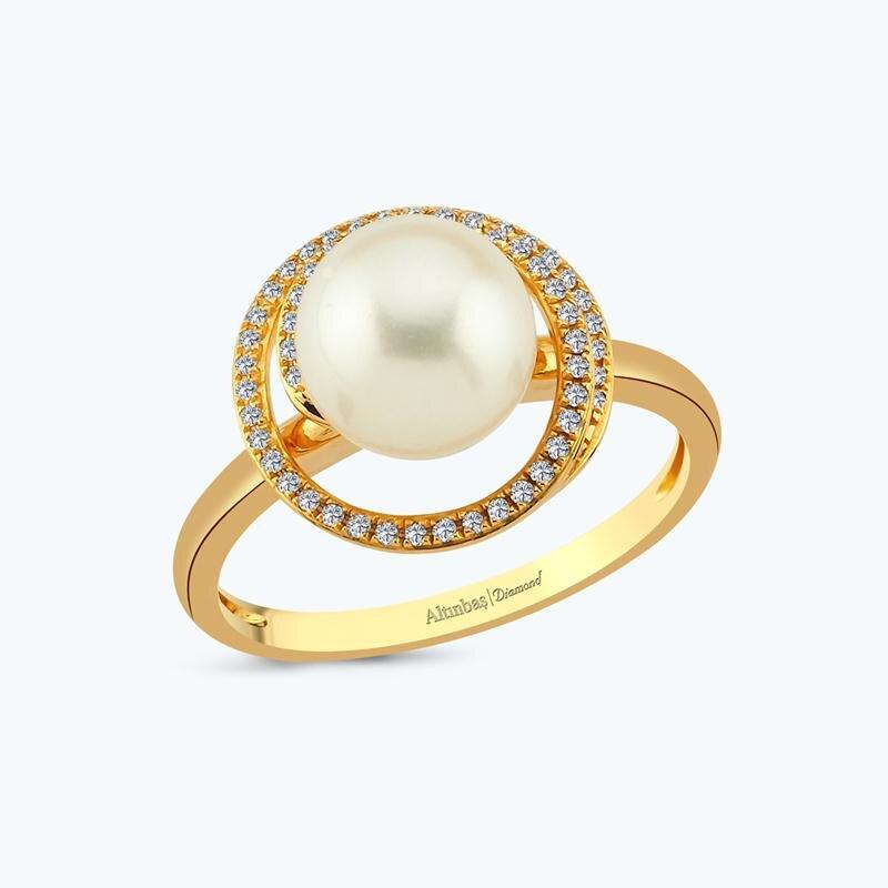 0.16 Carat Bague Diamant Perle