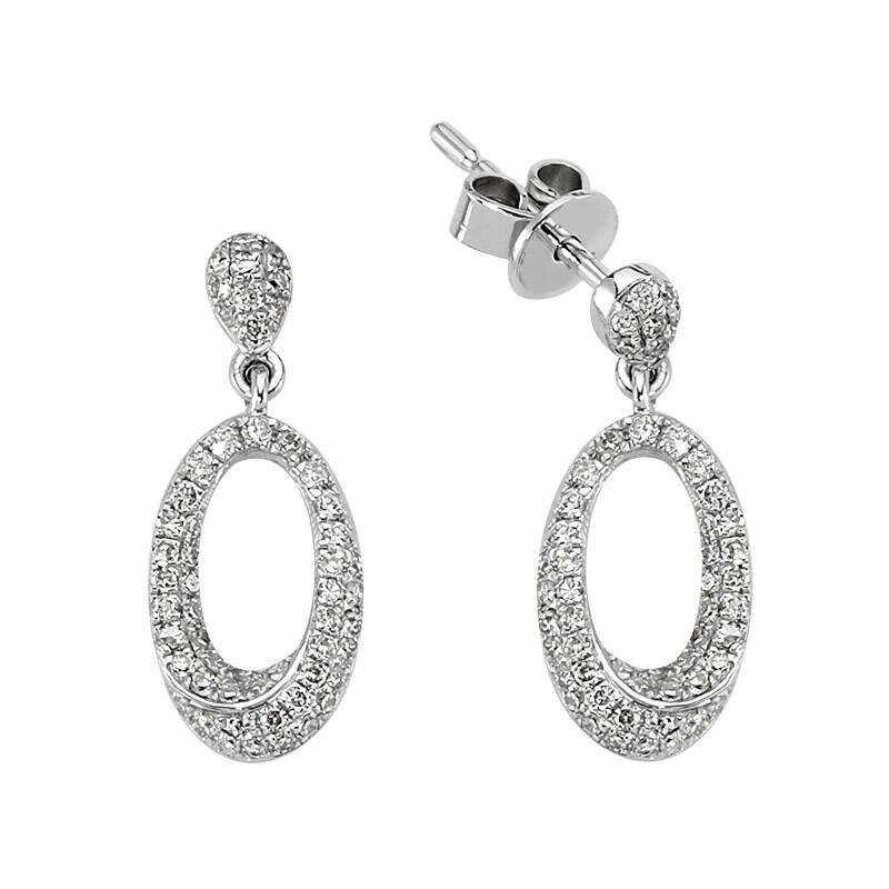 0.42 Carat Hoop Diamond Earrings
