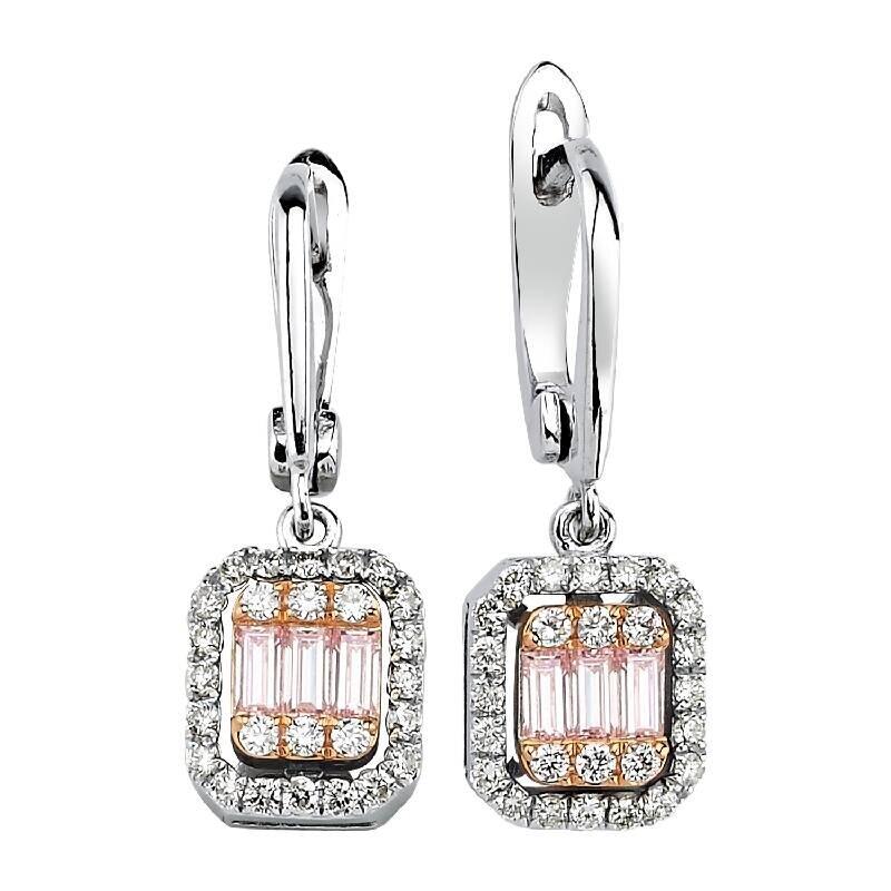 0.32 Carat Baguette Diamond Earrings