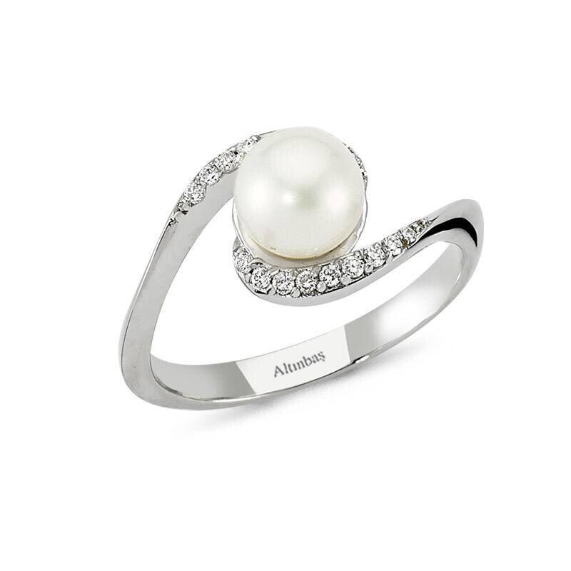 0.15 Carat Bague Diamant Perle