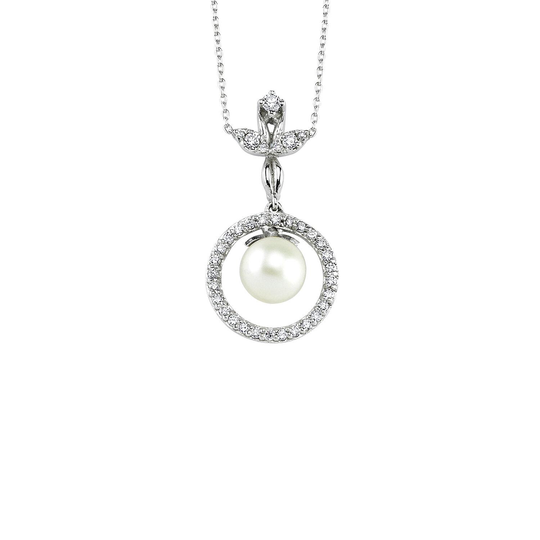 Collier Diamant Perle