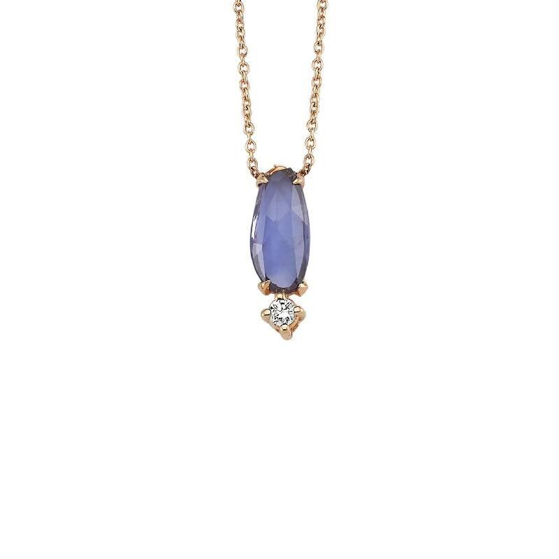 0.03 Carat Collier Diamant Saphir