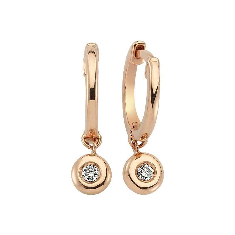 0.10 Carat Solitaire Diamond Earrings