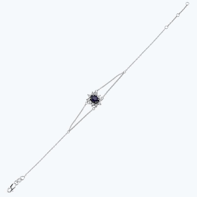0.05 Karat Saphir Diamantarmband