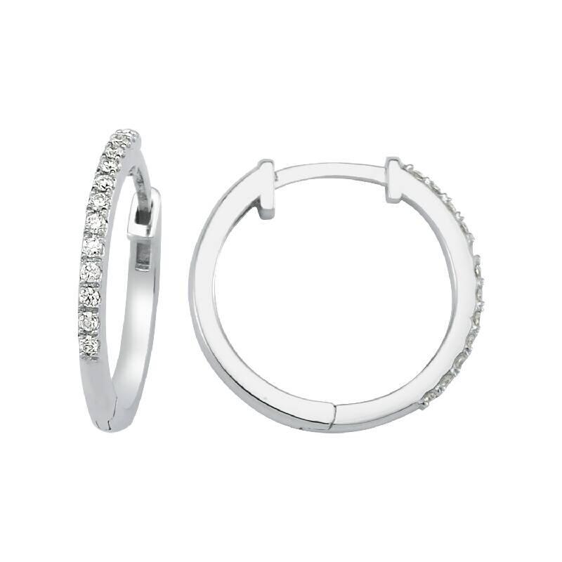 0.09 Carat Hoop Diamond Earrings