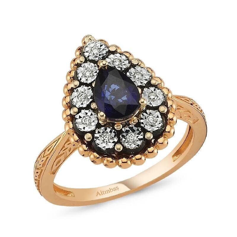 0.04 Carat Sapphire Diamond Ring