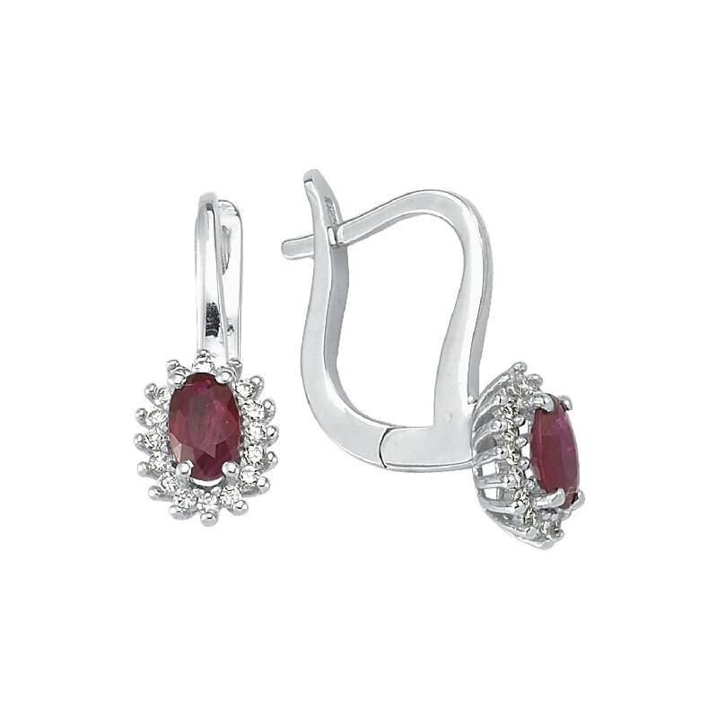 0.15 Carat Ruby Diamond Earrings