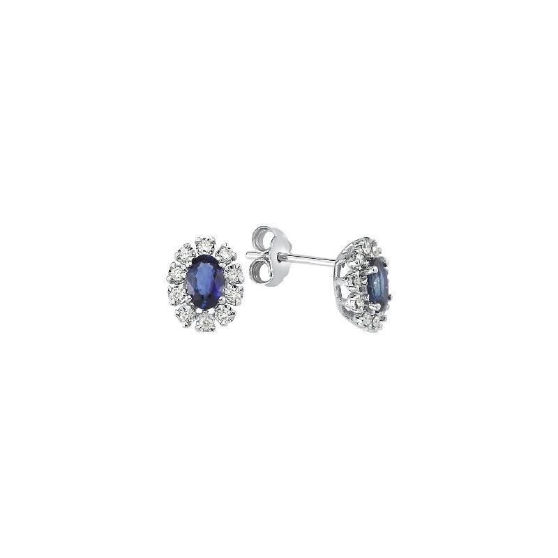 0.19 Carat Sapphire Diamond Earring