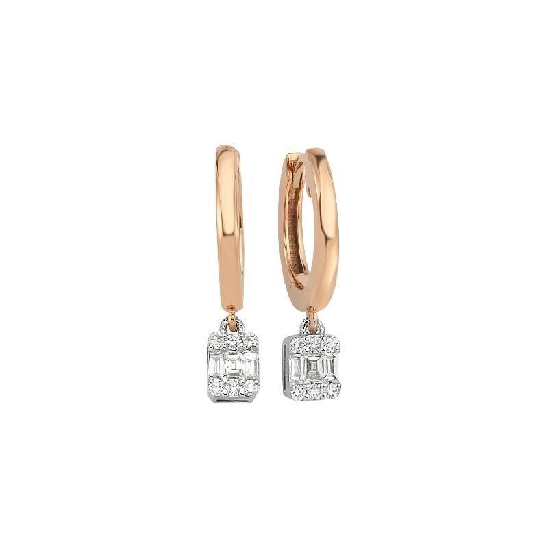 0.57 Carat Hoop Diamond Earrings