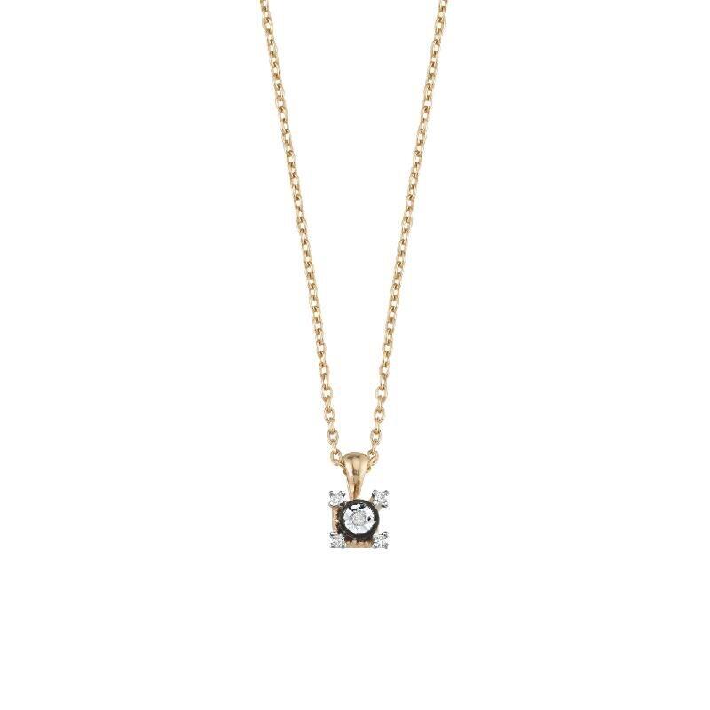 0.07 Carat Solitaire Diamond Necklace