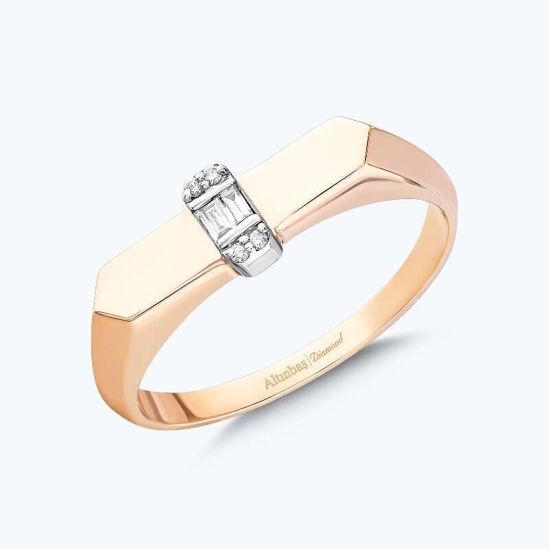 0.03 Carat Baguette Diamond Ring