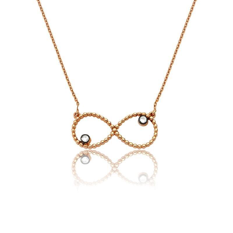 0.05 Carat Infinity Diamond Necklace