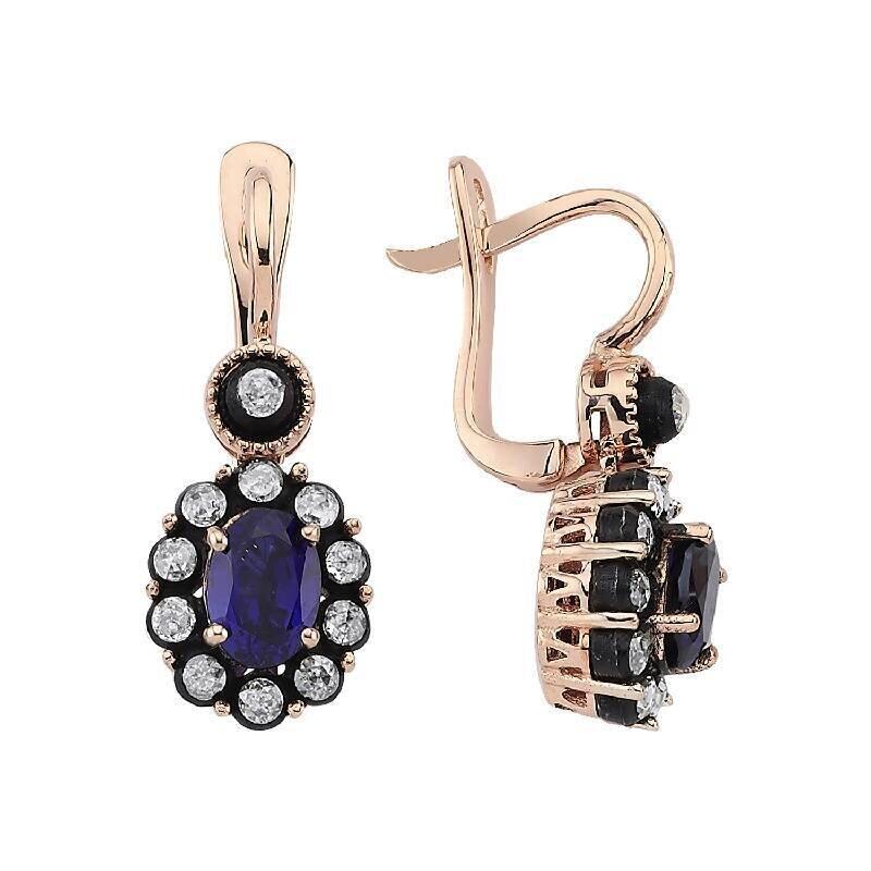 2.48 Carat Sapphire Diamond Earrings