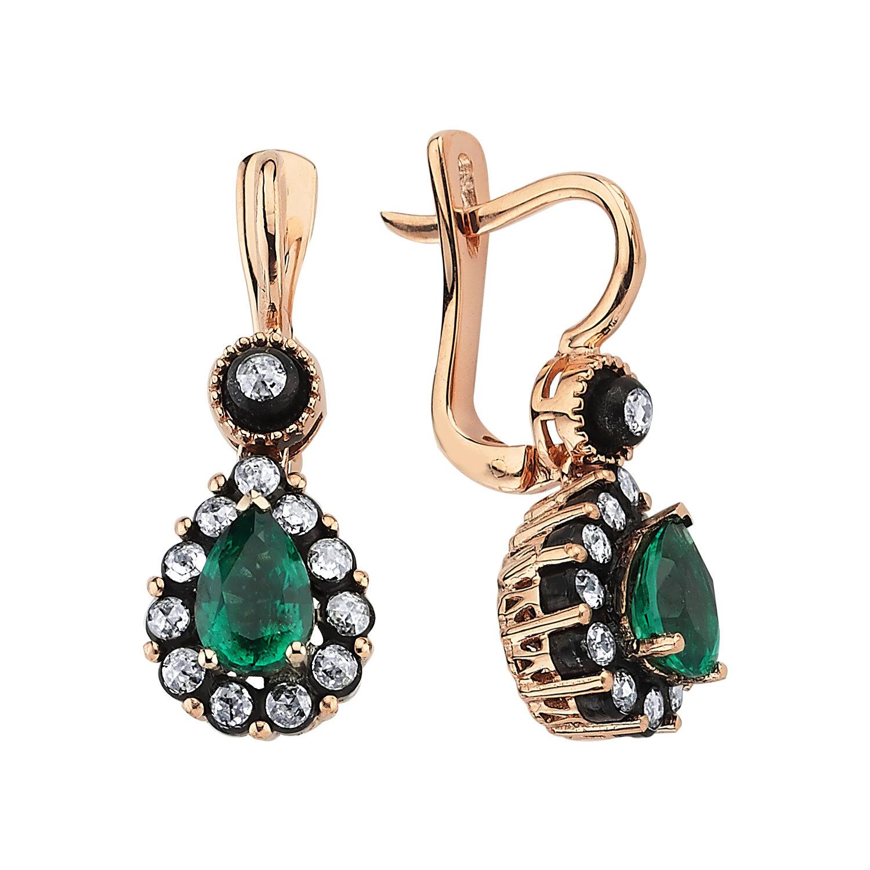 0.46 Carat Emerald Diamond Earrings