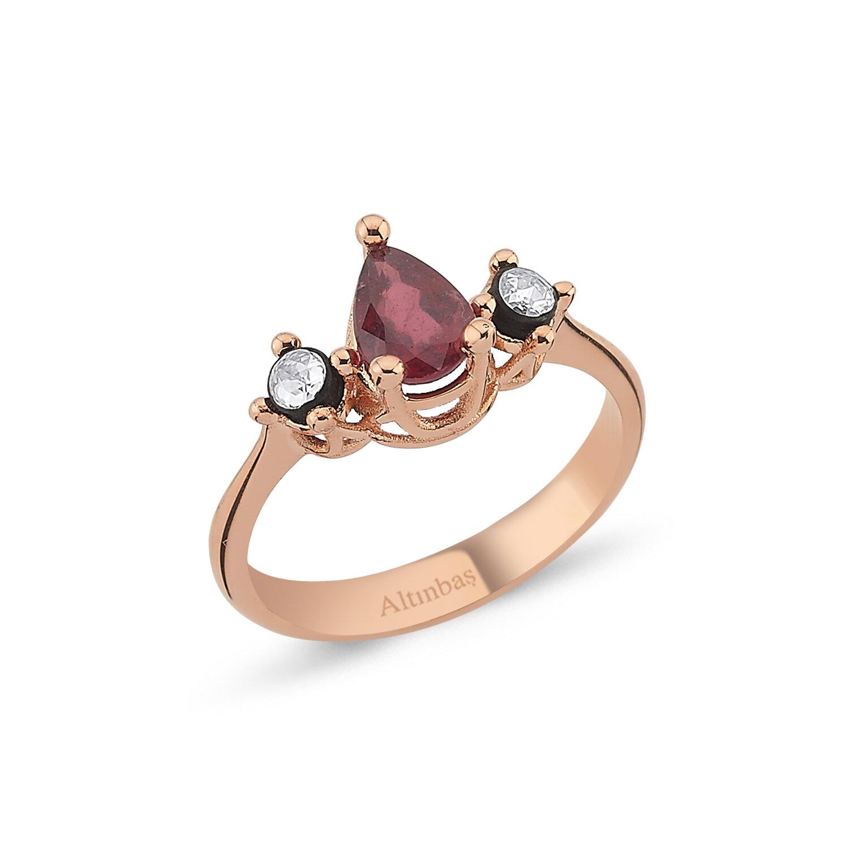 0.05 Carat Ruby Diamond Ring