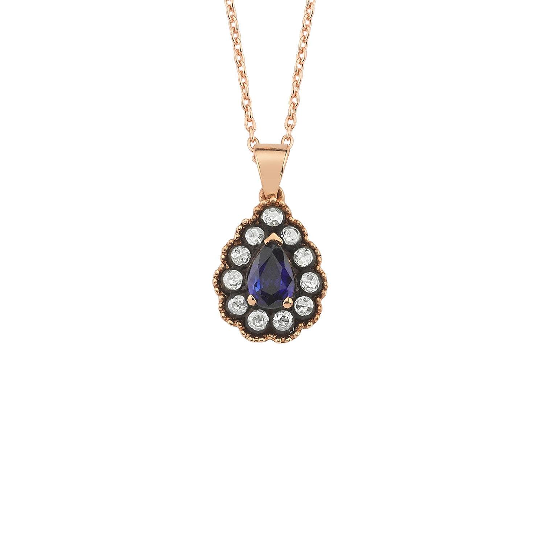 0.19 Carat Collier Diamant Saphir
