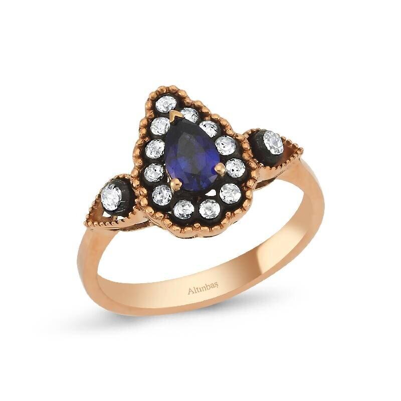 0.23 Carat Sapphire Diamond Ring