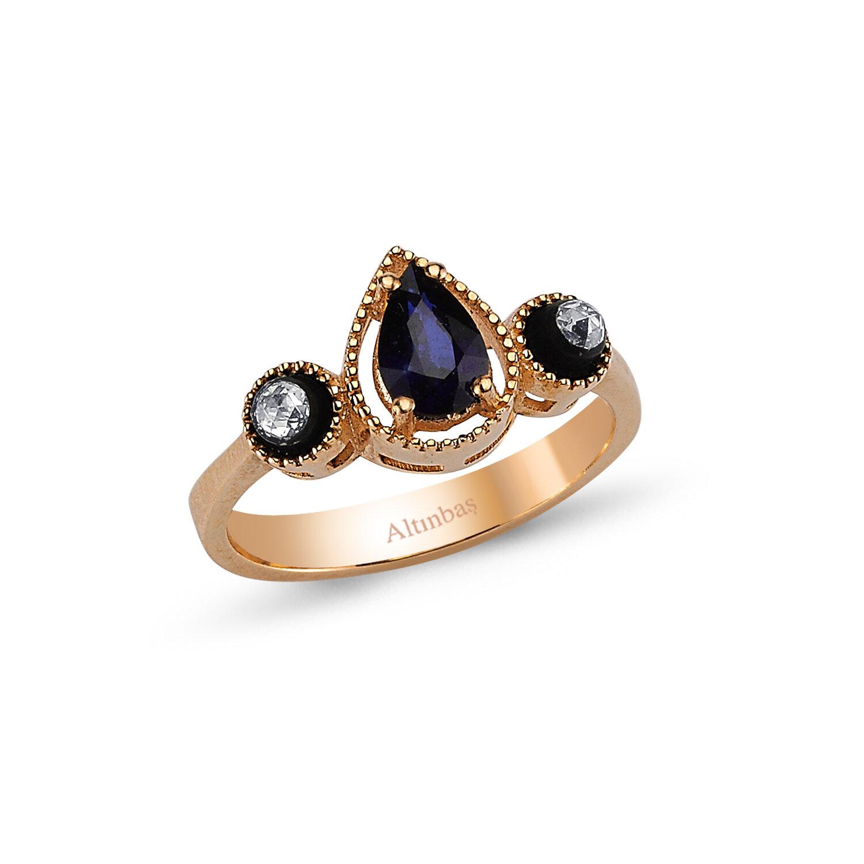 0.16 Carat Sapphire Diamond Ring
