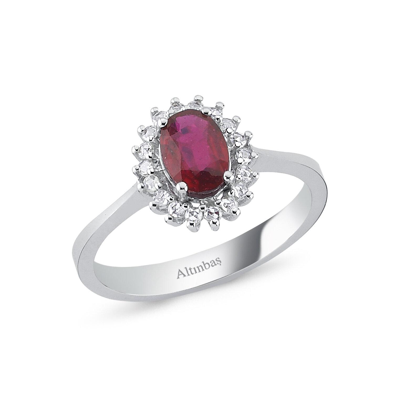0.11 Carat Ruby Diamond Ring