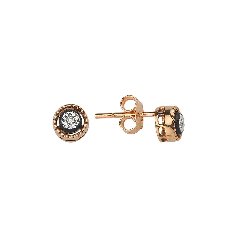 0.02 Carat Solitaire Diamond Earring