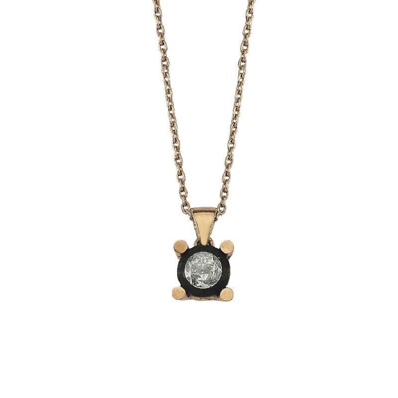 0.23 Carat Solitaire Diamond Necklace