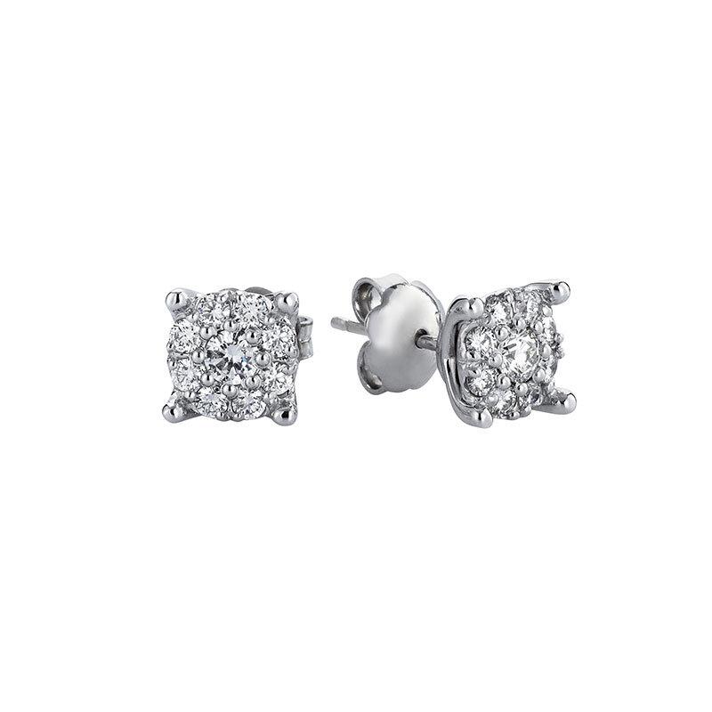 0.65 Carat Solitaire Diamond Earrings