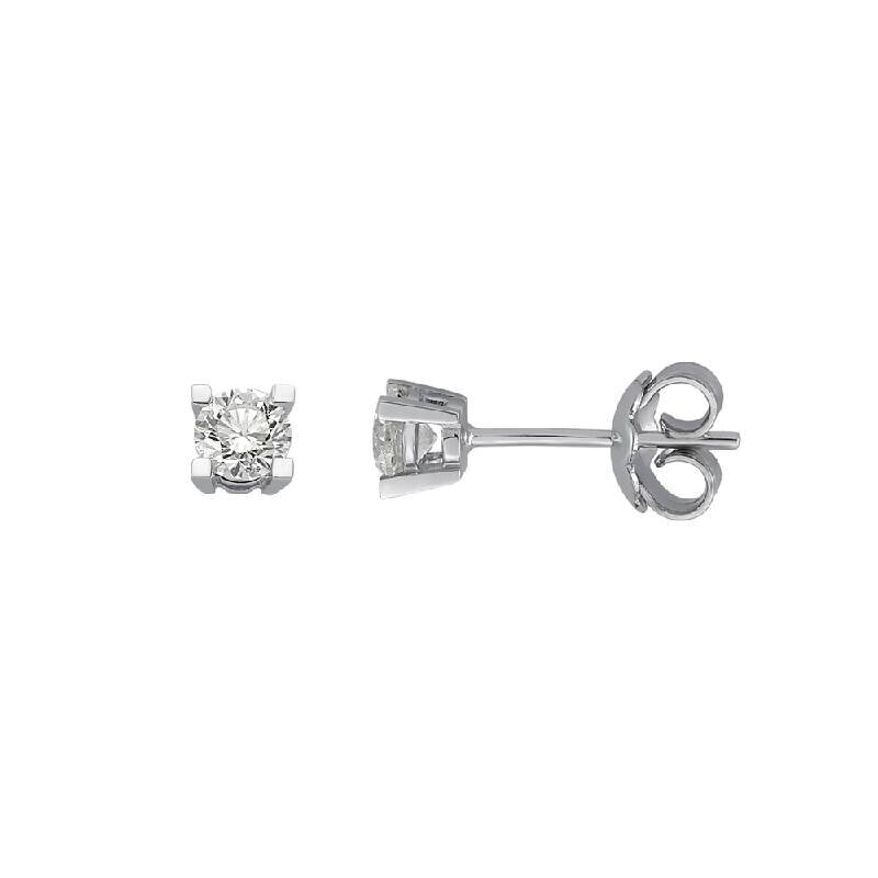 0.37 Carat Solitaire Diamond Earrings