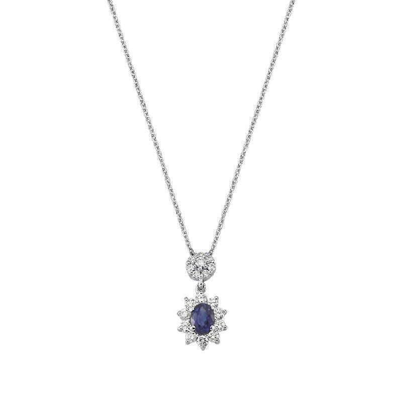 0.20 Carat Collier Diamant Saphir
