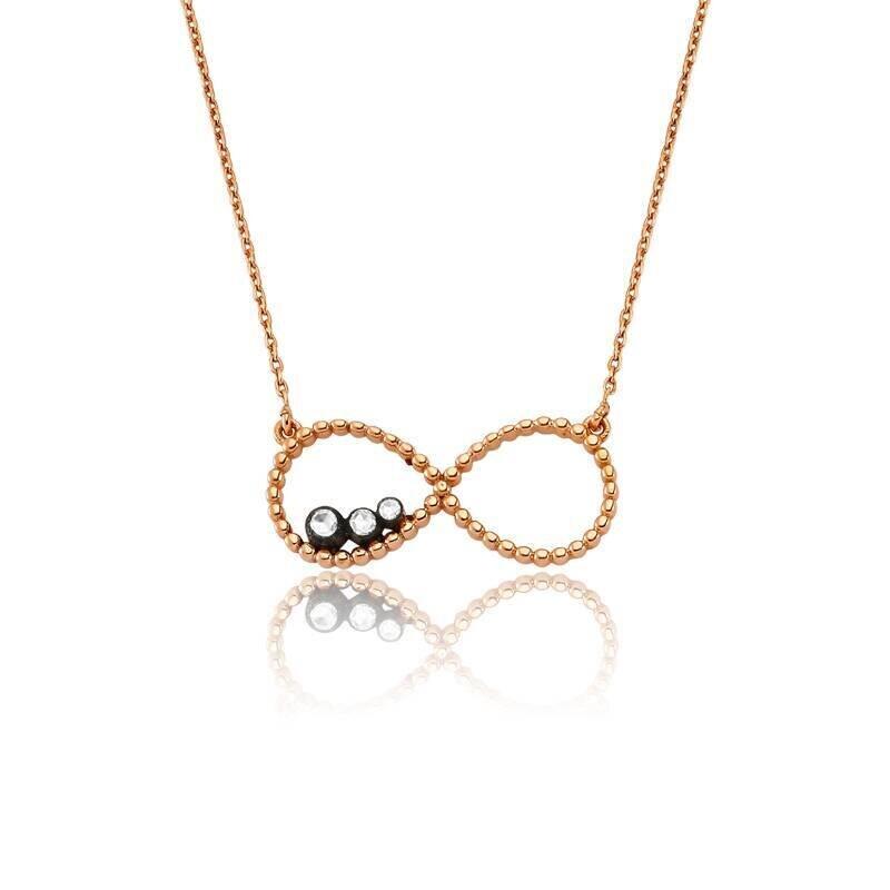 0.06 Carat Infinity Diamond Necklace