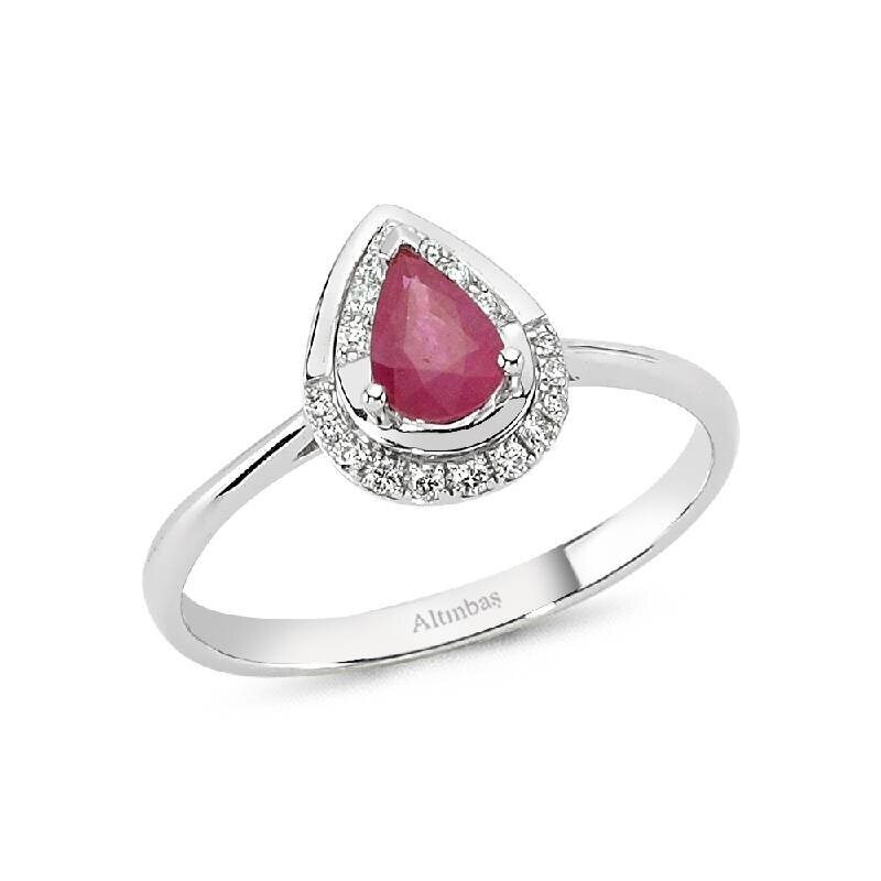 0.08 Carat Ruby Diamond Ring