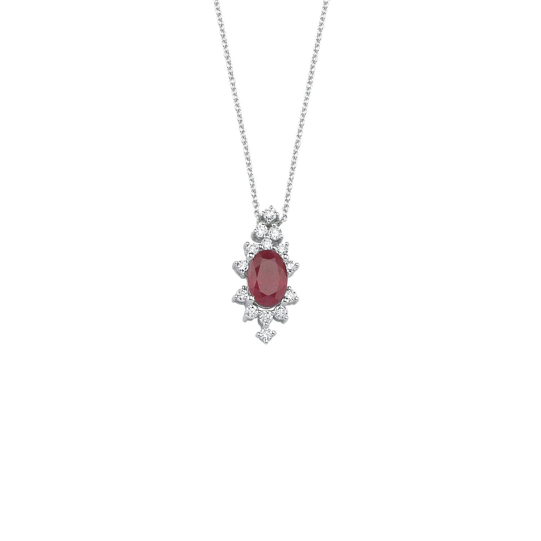 0.14 Carat Ruby Diamond Necklace
