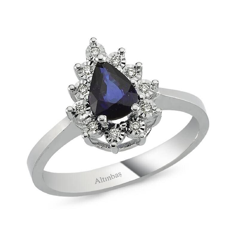 0.05 Carat Sapphire Diamond Ring