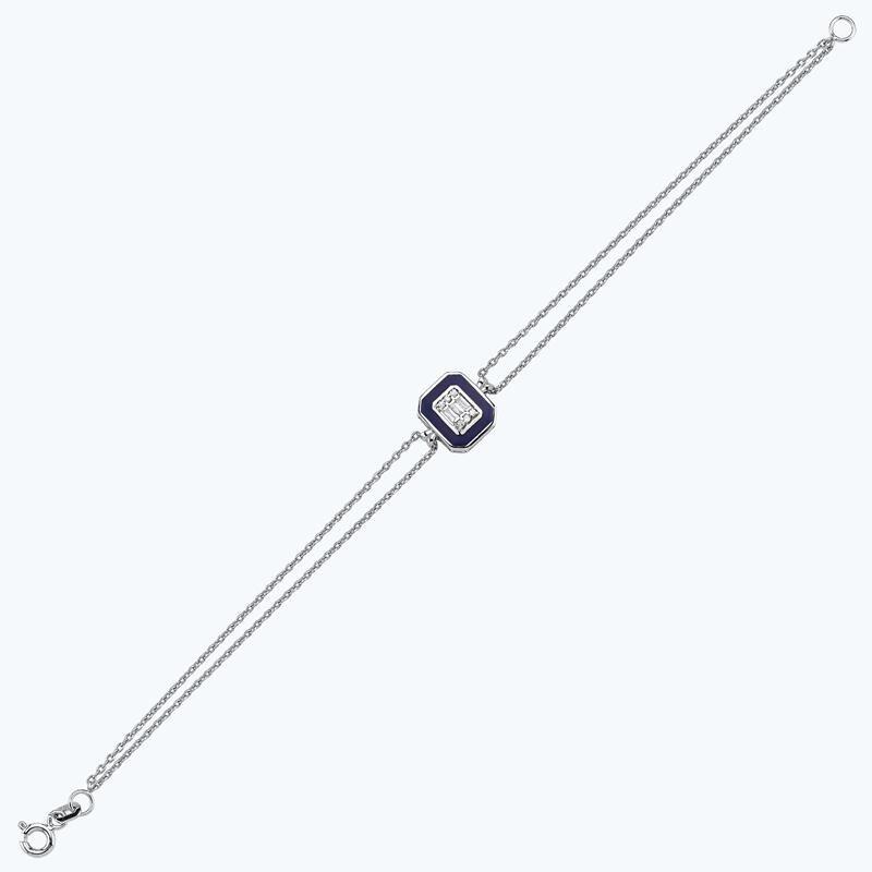 0.06 Carat Baguette Diamond Bracelet