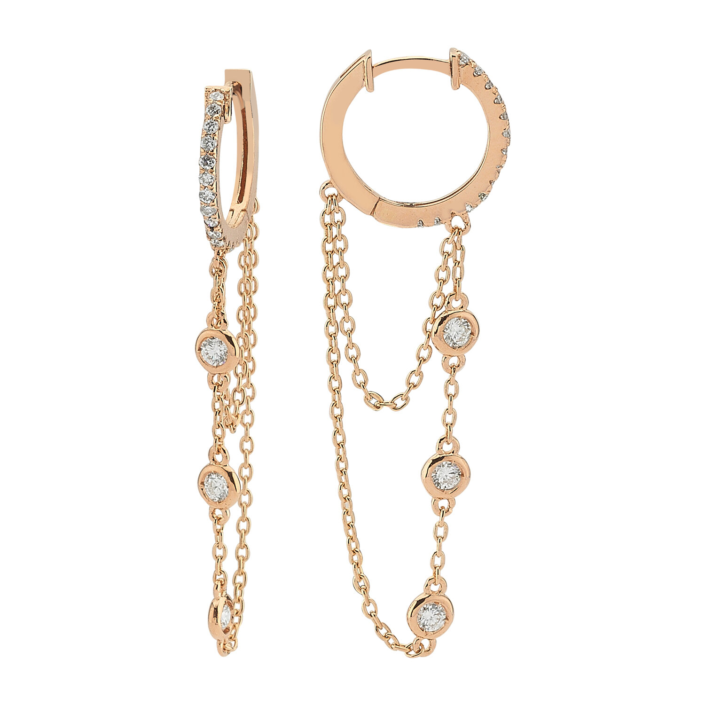 0.40 Carat Hoop Diamond Earrings
