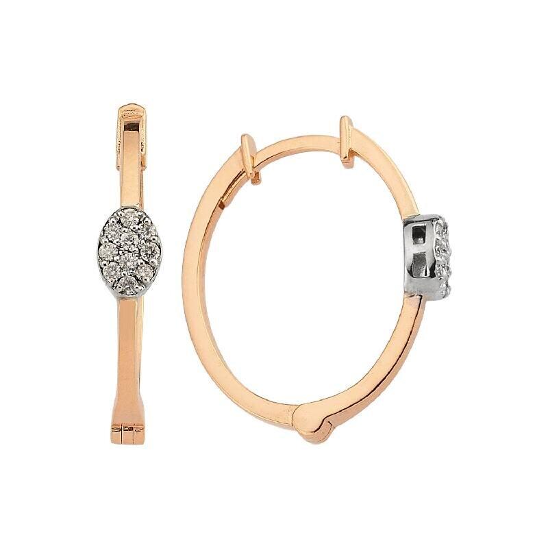 0.12 Carat Hoop Diamond Earrings